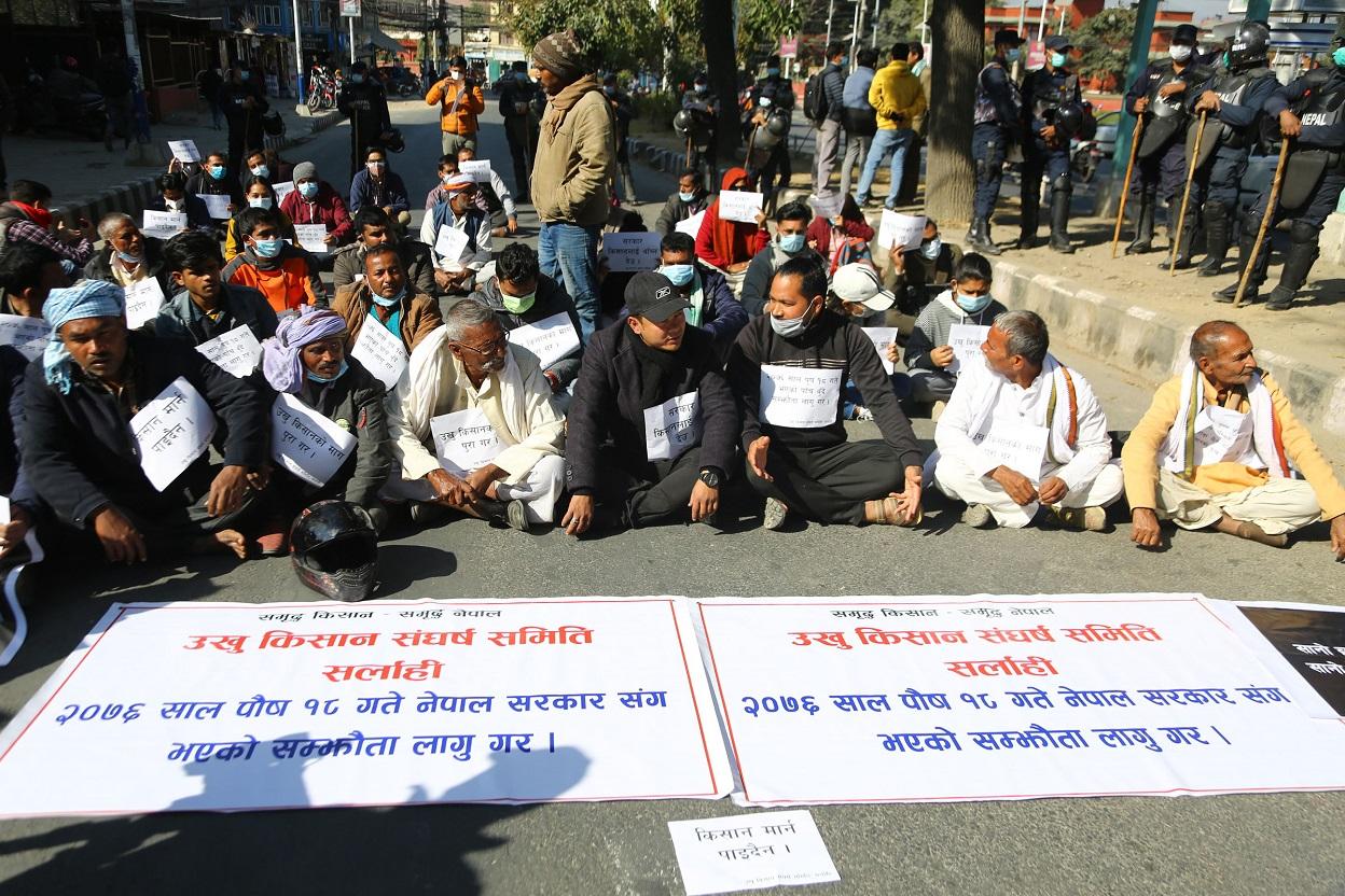 सरकार किसानलाई बाँच्न देउ (फोटो फिचर)
